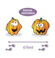 social distancing covid-19 virus halloween vector image vector image