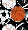 Sports balls seamless pattern vector image vector image