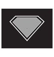 super hero black background vector image vector image