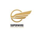 super wing - logo template creative vector image