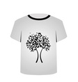 T Shirt Template- Butterfly tree vector image vector image