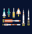 technology ship rocket cartoon design for vector image