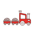 tractor farm with straw wagons vector image vector image