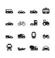 transport pictogram car ship subway train yacht vector image vector image