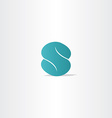 turquoise logo letter s logotype icon vector image