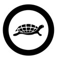 turtle tortoise icon black color in circle round vector image