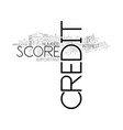when your credit score become important text word vector image vector image