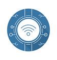 wifi spot flat design long shadow icon vector image