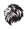 wild lion head logo icon design vector image vector image
