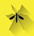 Zika mosquito icon vector image