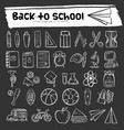 back to school hand drawn icon set vector image