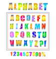 comic retro pop art font set vector image