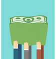 A lot of money A stack of dollars The companys vector image