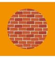 Brick wall design vector image