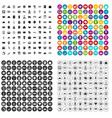 100 paying money icons set variant vector image vector image