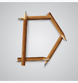a letter made by pencil vector image
