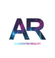 augmented reality concept banner ar virtual vector image vector image