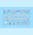 automation technologies word concepts banner