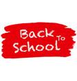 back to school logo vector image