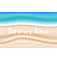 background with summer sandy beach vector image vector image