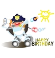 Birthday greetings for a police officer vector image vector image