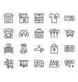black friday icon set vector image vector image