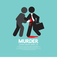 Businessman Being Stabbed With A Knife vector image vector image