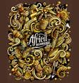 cartoon doodles africa vector image vector image