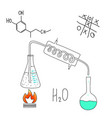 chemical laboratory the principle of operation of vector image