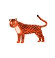 childish portrait funny tiger in scandinavian vector image vector image