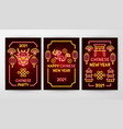 chinese new year neon flyer concepts vector image