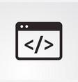 coding icon vector image vector image