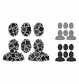 crowd mosaic icon trembly items vector image vector image