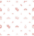 culture icons pattern seamless white background vector image vector image