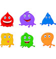cute liquid cartoon character vector image