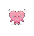 cute sad love characters vector image vector image