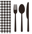Cutlery and tablecloth pattern vector image vector image