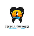 dental lighthouse clinic vector image vector image