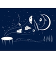 dinner in the moonlight vector image vector image