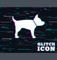 dog sign icon pets symbol vector image