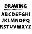 drawing sketch alphabet Handwritten font vector image