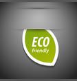 Eco friendly tag vector image vector image