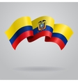 Ecuadorian waving Flag vector image vector image
