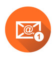 email envelope message in flat style on round vector image vector image