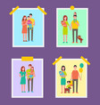 family people pictures set vector image vector image