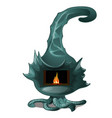 fancy steel fireplace in dragon style isolated on vector image vector image