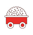 farm wagon with straw vector image
