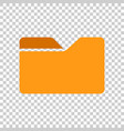 file folder icon in transparent style documents vector image vector image