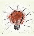 flat design light bulb icon with concept idea vector image