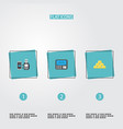 flat icons atm ingot remote paying and other vector image vector image